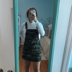 NWT camo overall dress